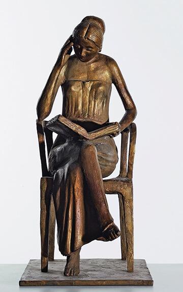 Gerhard Marcks, Sitzende Leserin, 1976, Bronze