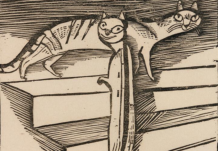 Gerhard Marcks, Die kleinen Katzen, 1922, Holzschnitt