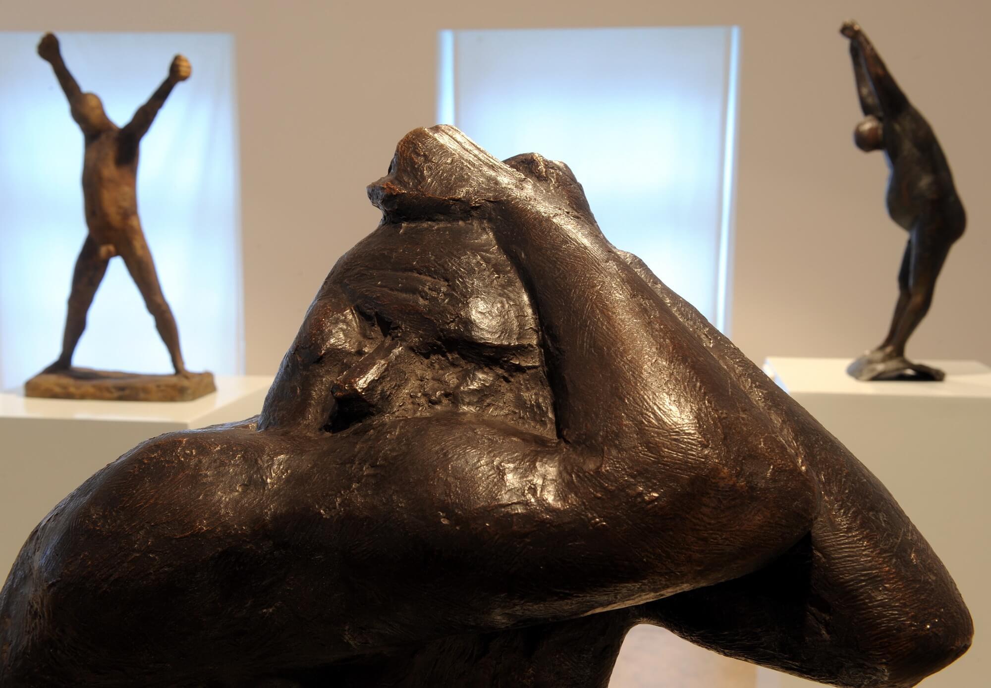 Waldemar Grzimek, Der Geblendete Michael, 1964, Bronze, VG Bild-Kunst, Bonn 2016, Schlüsselwerk