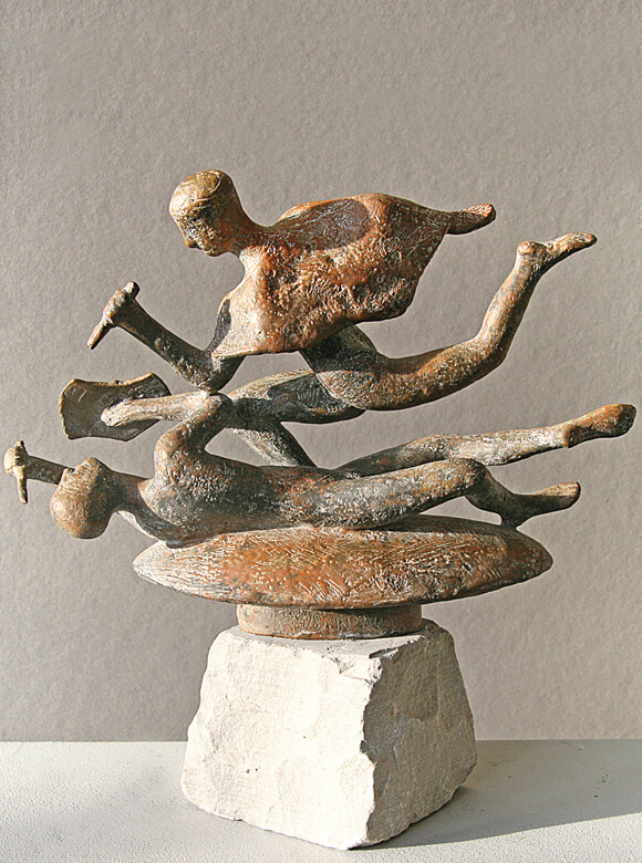 Wolfgang Friedrich, Kampfszene, 1999-2011, Bronze, Foto: Wolfgang Friedrich