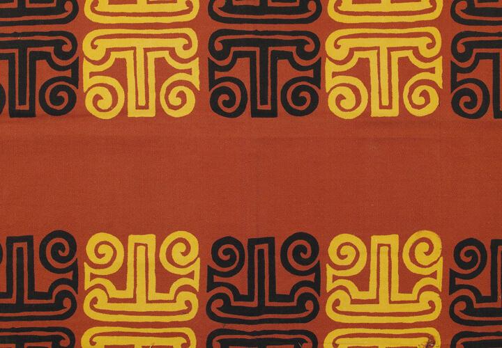 Gerhard Marcks, Stoffentwurf VIII, 1949, Textil