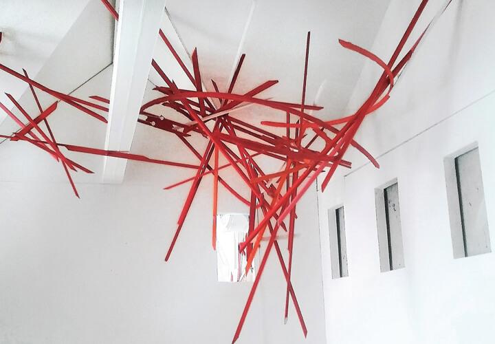 Boris Doempke, Entwurf für den Pavillon Tales of space, 2018, Holz, Lack
