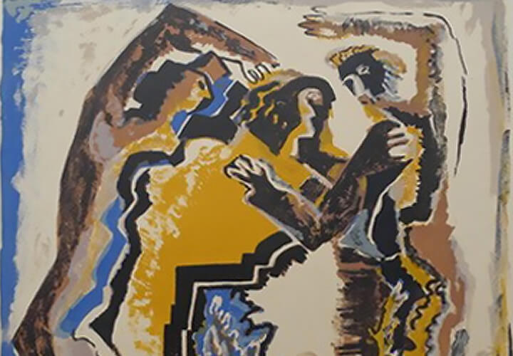Ossip Zadkine, Personnages, 1957, Farblithografie