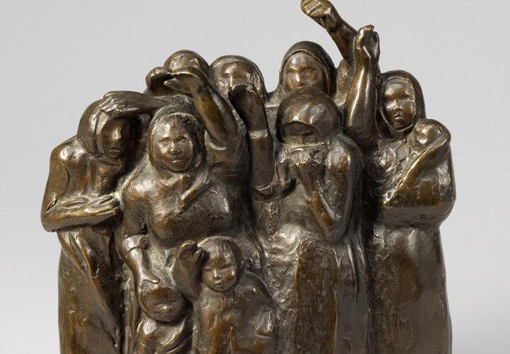 Käthe Kollwitz, Abschiedwinkende Soldatenfrauen, 1937/38, Bronze © Käthe Kollwitz Museum Köln