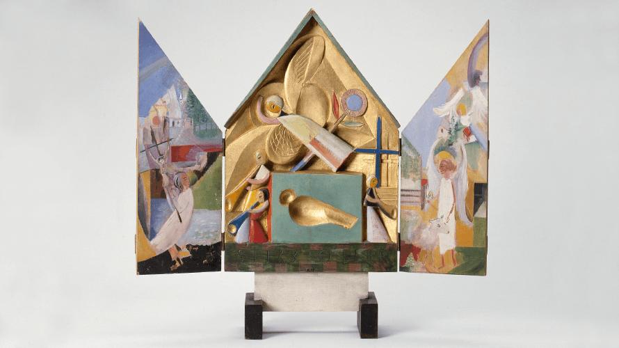 Gerhard Marcks, Altärchen, 1920, farbig gefasst