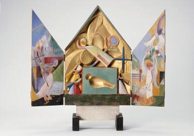 Gerhard Marcks, Altärchen, 1920, farbig gefasst, VG Bild-Kunst, Bonn 2019