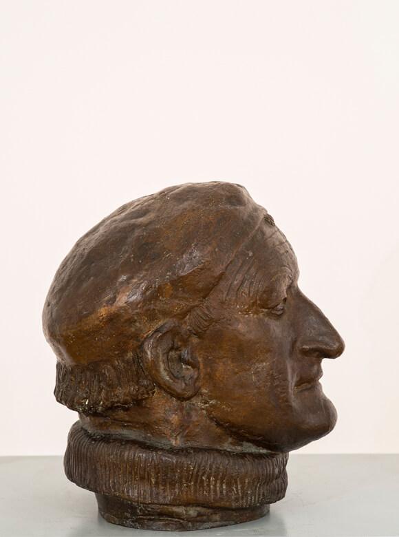 Gerhard Marcks, Porträtkopf Alfred Partikel, 1931, Bronze, Privatbesitz, VG Bild-Kunst, Bonn 2019