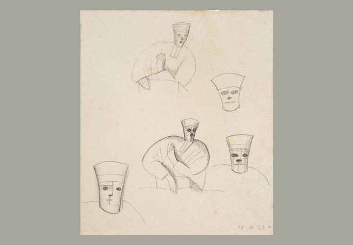 Gerhard Marcks, Richter, 1922, Bleistift auf Papier