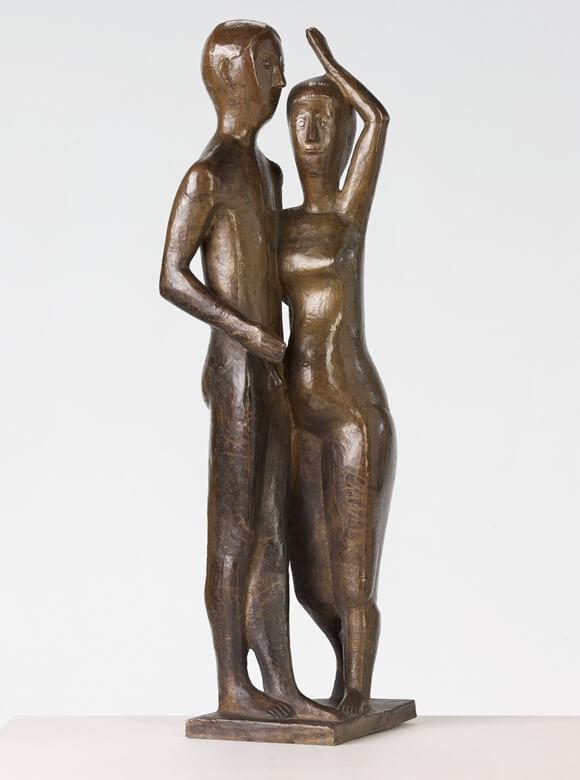 Gerhard Marcks, Mann und Frau, 1924, Messing