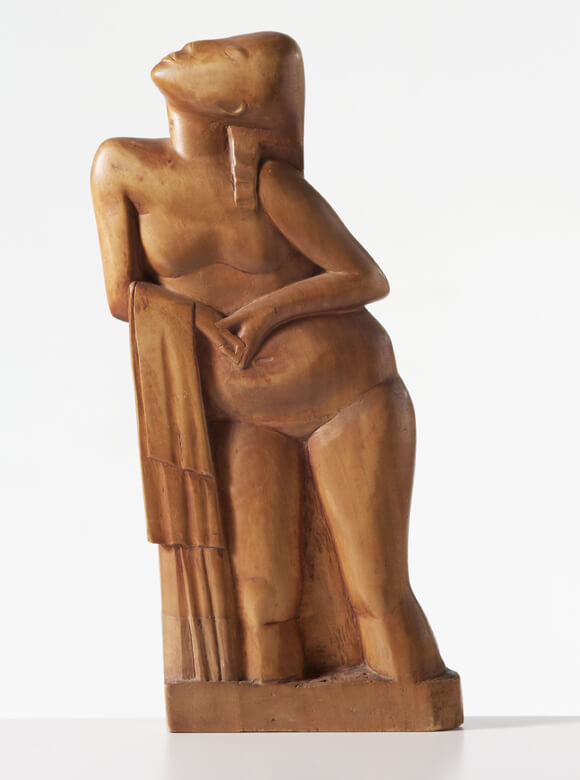Gerhard Marcks, Frauenakt mit Tuch, 1920, Holz