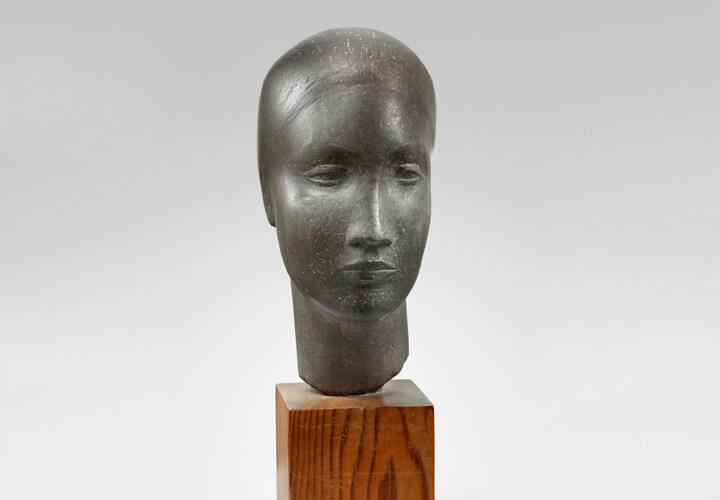 Jussuf Abbo, Frauenkopf, 1928, Zinn, Nachlass Jussuf Abbo, Brighton/UK, Foto: Gunter Lepkowski