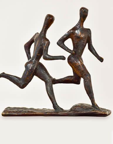 Gerhard Marcks, Läufergruppe, 1923, Messing; VG Bild-Kunst, Bonn 2019