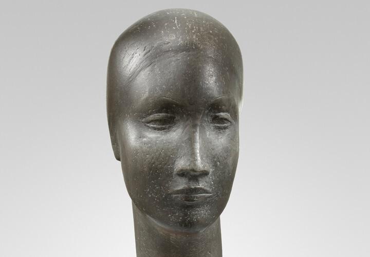 Jussuf Abbo, Frauenkopf, 1928, Zinn, Foto: Gunter Lepkowski