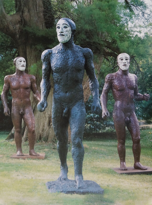 Elisabeth Frink, Riace Warriors, IV, I, III, 1986-1988, Bronze