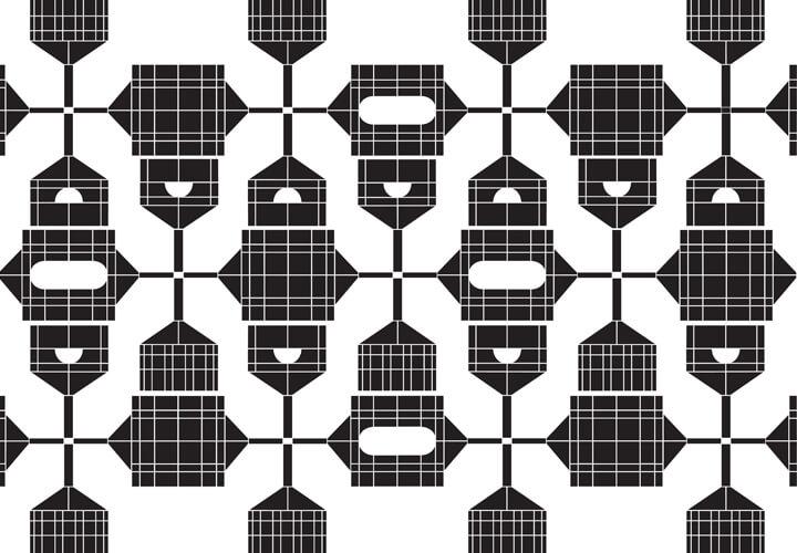 Suse Itzel, Gesa Lange, Tela Pattern, Nr. 2, 2020, Computergrafik (Ausschnitt)