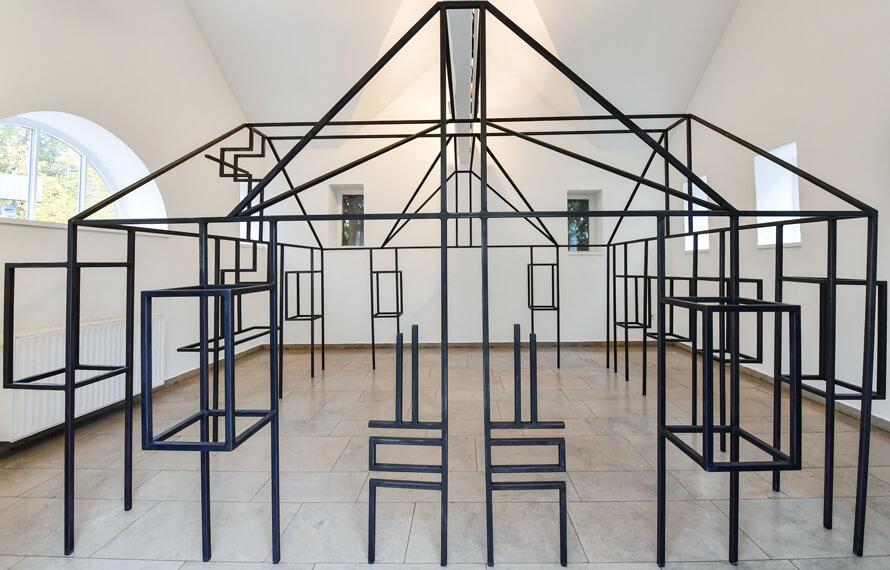 Suse Itzel und Gesa Lange, Tela, 2020, Stahl