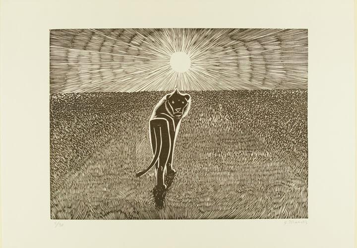 Gerhard Marcks, Löwe, 1970, Druckgrafik