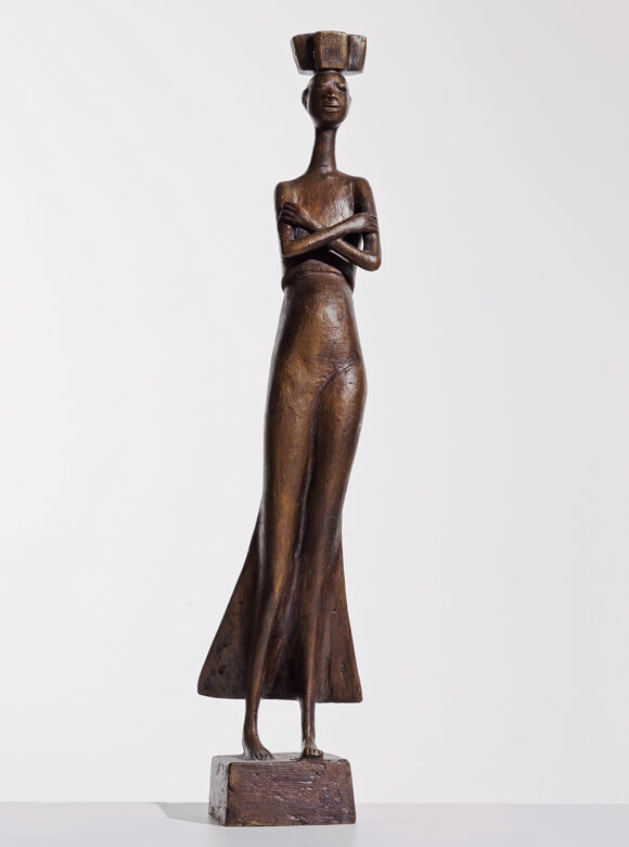 Gerhard Marcks, Tragende Hereorfrau, 1957, Bronze