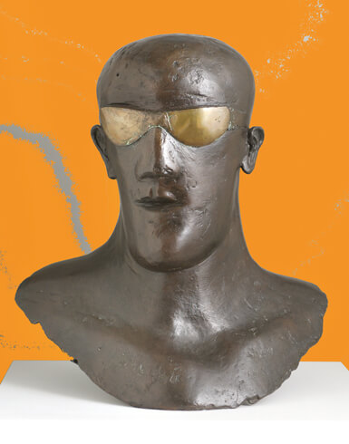 Elisabeth Frink, Goggle Head, 1969, Bronze, The Ingram Collection of Modern British Art, © VG Bild-Kunst, Bonn 2020