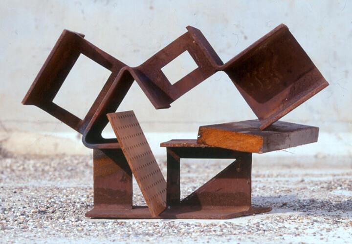 Ruud Kuijer, Ohne Titel, 1994/95, Holz, Eisen