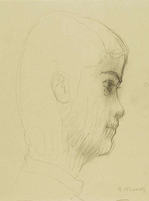 Gerhard Marcks, Trude Jalowetz, 1933-1934, Bleistift auf Papier